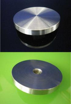 Adapterplatte Edelstahl 85mm mit M 8 Gewinde
