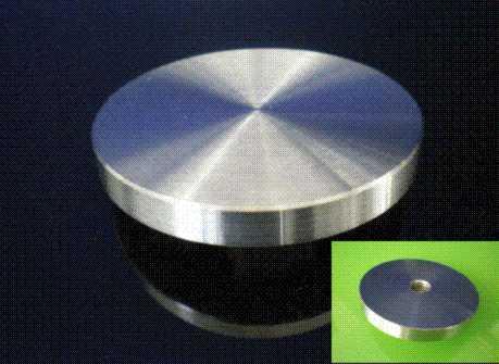 Adapterplatte Edelstahl 60,3mm mit M 8 Gewinde