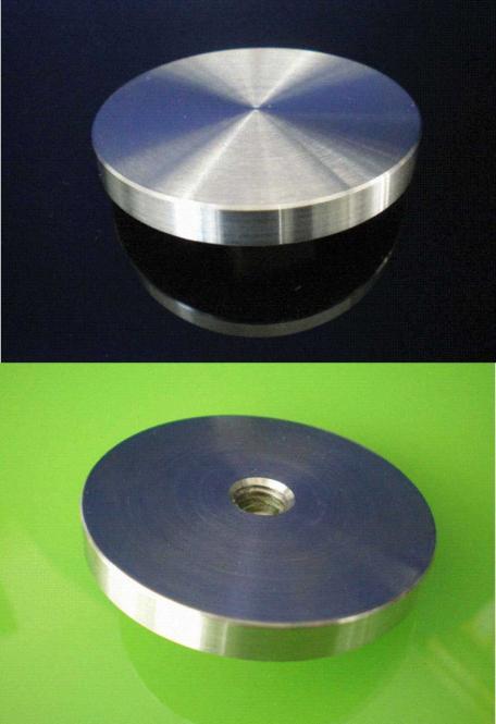 Adapterplatte Edelstahl 50mm mit M 8 Gewinde